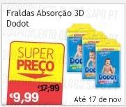 Super Preço | CONTINENTE | Fraldas Dodot, até 25 novembro