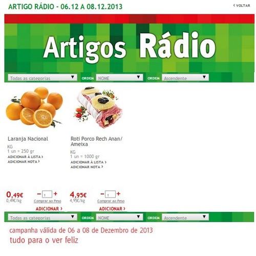 Artigos Rádio | JUMBO | de 6 a 8 dezembro