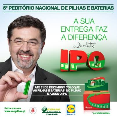 Peditório | IPO / LIDL | Pilhas usadas, que excelente maneira de ajudar