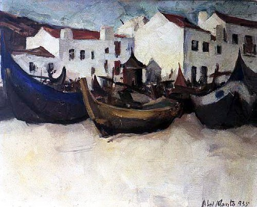 Abel Manta - Barcos da Nazaré