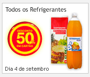 Refrigerantes 50% Desconto