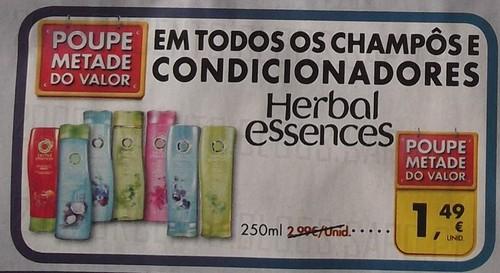 Acumulação 50% + Vale   PINGO DOCE   Herbal Essences, de 3 a 9 dezembro