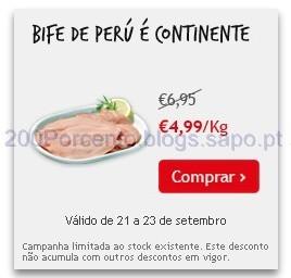 Super Preço em Bife de Perú É Continente