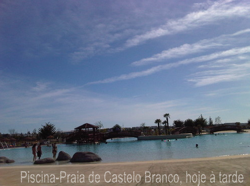 Piscina-Praia de Castelo Branco, hoje à tarde
