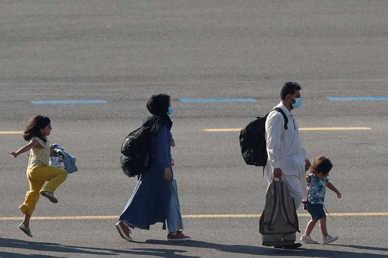 People who have been evacuated from Afghanistan ar