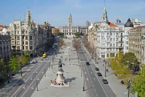 Avenida dos Aliados no Porto