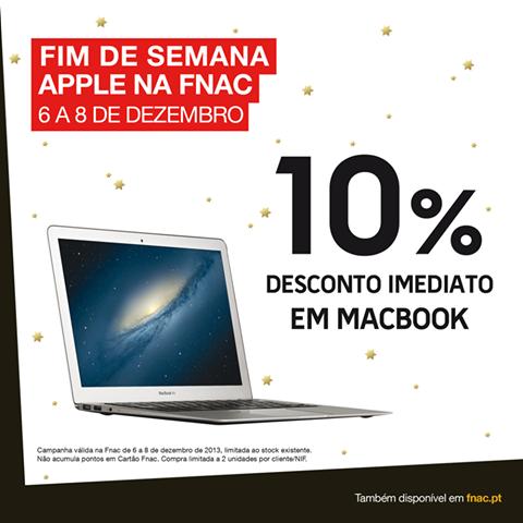 10% desconto   FNAC   Macbook
