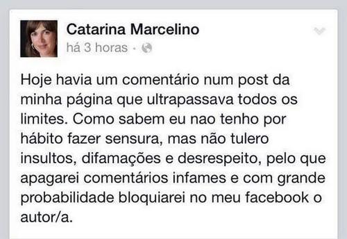 Catarina Marcelino e o Facebook
