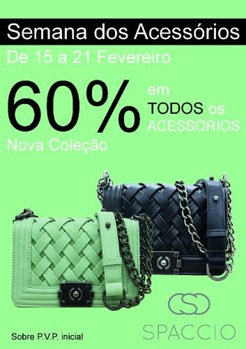 Promoção   FREEPORT   Spaccio - 60% em acessórios