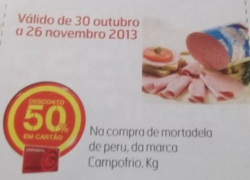 Acumulação Super Preço + 50% Cupão | CONTINENTE | Mortadela de Peru Campofrio, de 19 novembro a 25 novembro,
