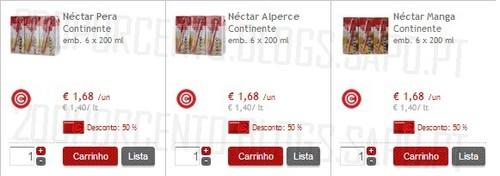 Acumulação 100% | CONTINENTE | Néctar 6x200ml