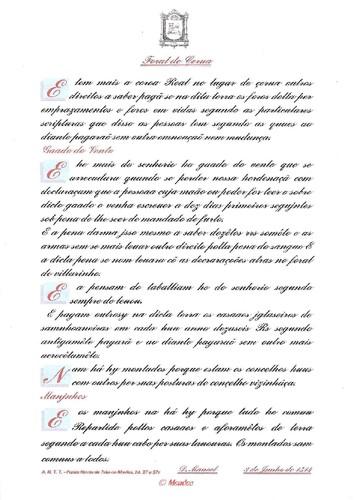 Vila de Cerva - Transcrição do Foral