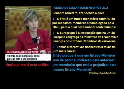 Governo Portugal Passos Coelho e Ministra das FInanças Sobre o reembolso ao FMI.jpg