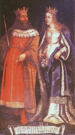 Rainha Santa Isabel ao lado de Dom Dinis.jpg