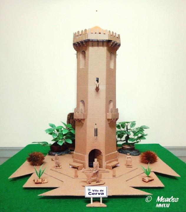 Vila de Cerva - Maquete da Antiga Torre.