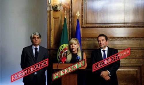 MinistraJustiça+CarlosBrito+RuiPereira(Exonerados