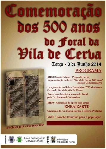 Cerva - Comemorações dos 500 anos do Foral