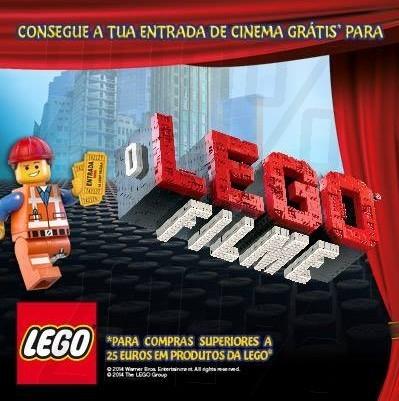 Entrada grátis   TOYSRUS   filme Lego, em compras superiores a 25€ de produtos Lego