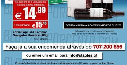 Oferta de Caixa com 4 Garrafas | STAPLES | até 21 janeiro