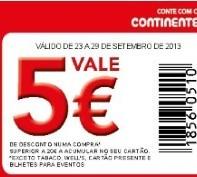 5€ em cartão