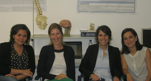 As investigadoras Patricia Oliveira Silva, Joana C