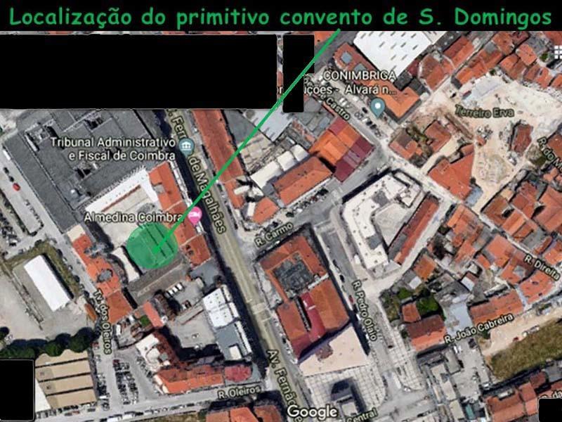 Localização atual do convento velho de S. Doming