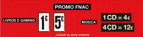 Promoções Fnac Gamming e Musica