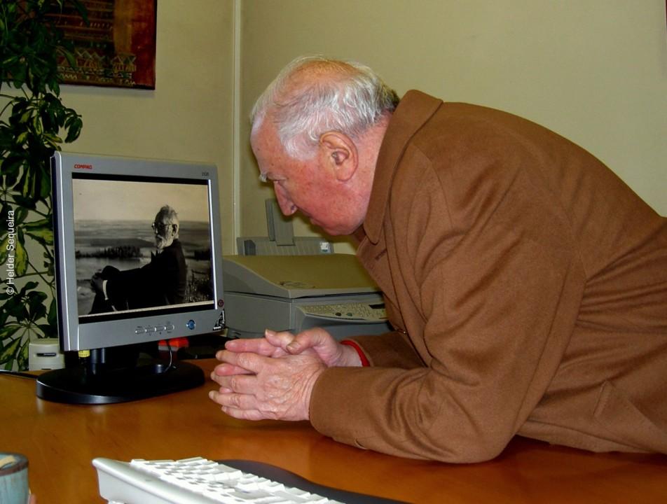 Eduardo Lourenço e foto de Unamuno - foto Helder