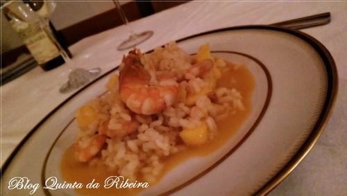 risotto de camarão com manga