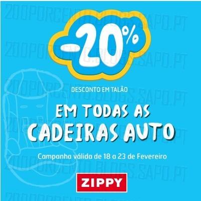 20% de desconto | ZIPPY | até 23 fevereiro - Cadeiras Auto