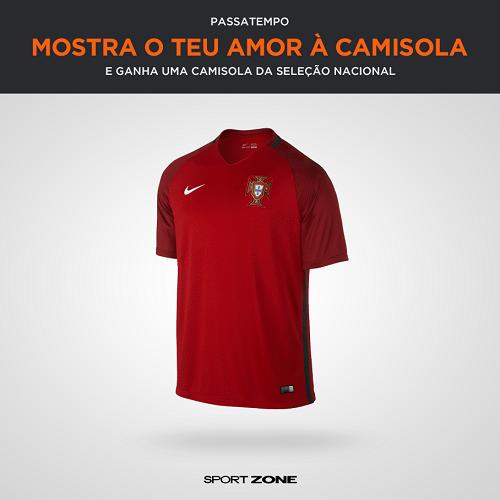 5d104e208d9b8 Passatempo Camisola da Seleção Nacional - Sport Zone (Facebook) -  Passatempos4Free