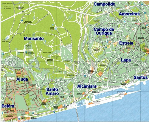 Mapa De Lisboa Oeste Lisbon Map West My Own Private Lisboa