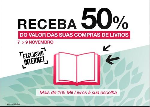 50% desconto | FNAC | Livros