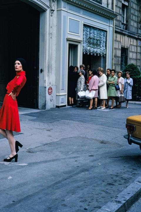 Woman Posing with Group in Rear, Paris.jpg