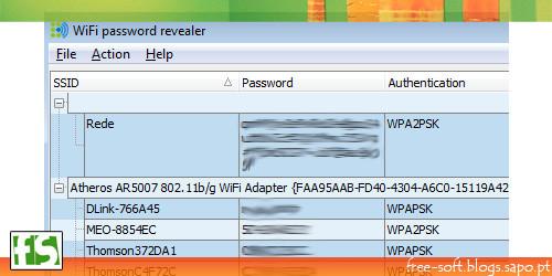 Recuperar passwords rede sem fios