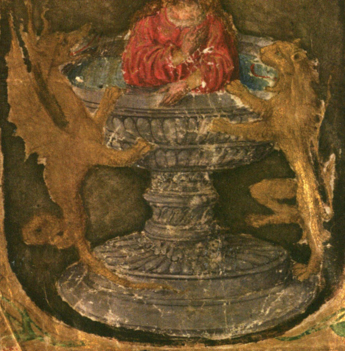 Figura 7 — Cálice ou fonte, detalhe da iluminur