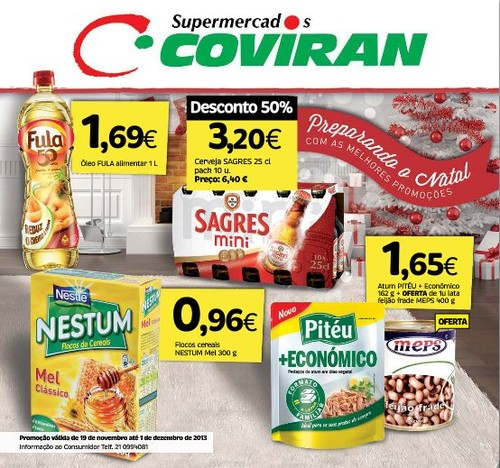 Novos Folhetos   COVIRAN   de 19 novembro a 1 dezembro