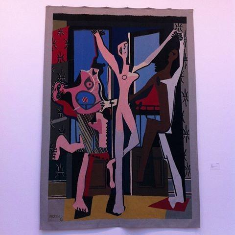 Pablo Picasso#La Danse#1967#tapisserie d'après une peinture de 1925#atelier de tissage de Jacqueline de la Baume et René Dürebach