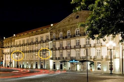 Hotel Intercontinental Porto candeeiros partidos M