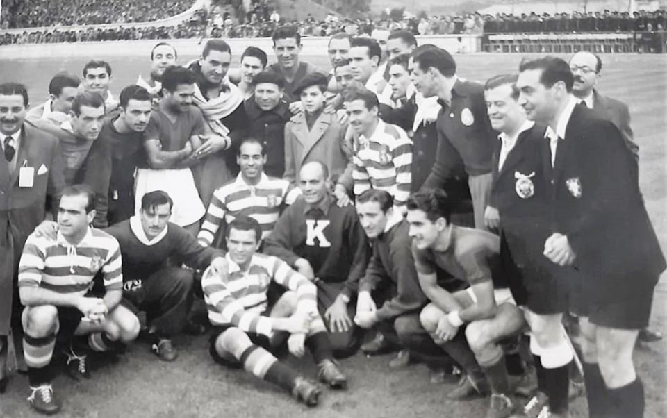 SCP 1949-50 Sporting - San Lorenzo e Pierino Gamba