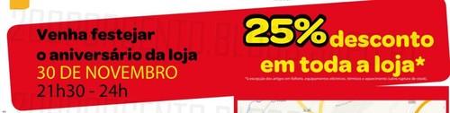 Novo Folheto   BRICOMARCHÉ   Penafiel especial Aniversário, de 7 novembro a 1 dezembro, 25% em toda a loja !!