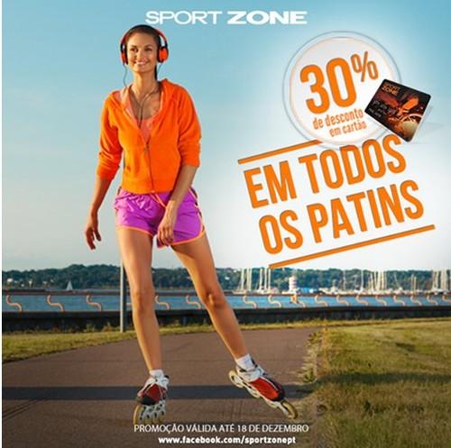 30% de desconto   SPORT ZONE   Patins