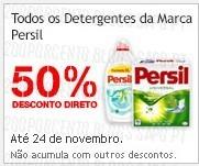 Acumulação 50% direto + Vale | CONTINENTE | Persil Duo-CAPS, até 24 novembro