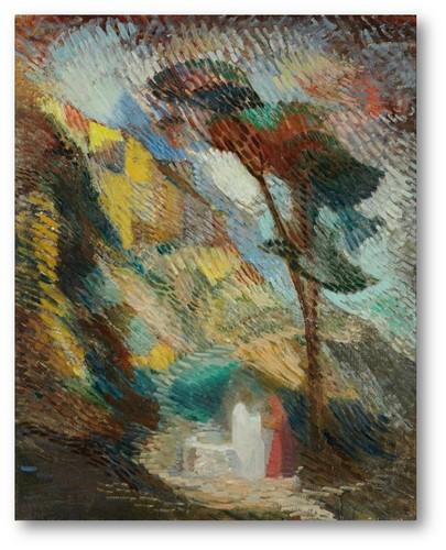 dora maar, deux personnages dans un paisage, 1907-