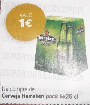 Acumulação 25% + Vale   PINGO DOCE   Heineken, de 3 a 9 dezembro