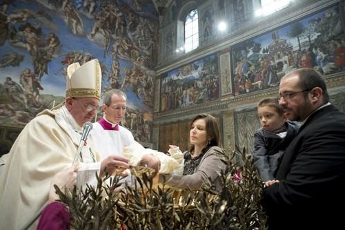 Os baptizados do Papa Francisco