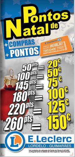 Campanha Pontos E-Leclerc Lordelo, de 1 Outubro a 31 Dezembro