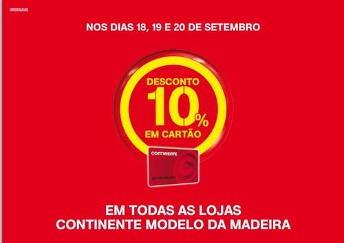 10% desconto em todas as lojas   CONTINENTE   Madeira
