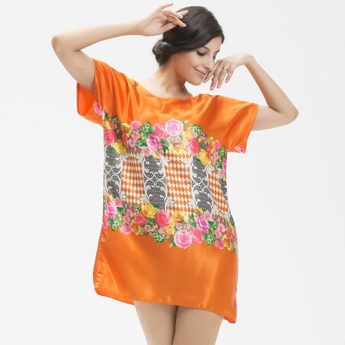 2015-New-arrival-women-pajama-flower-pattern-summe