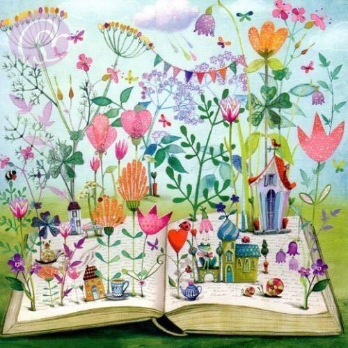 Leitura de primavera -ilustración de Mila Marquis